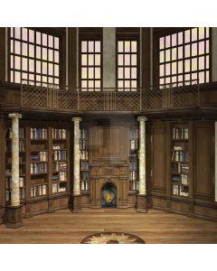 Bookshelf Books Pillar Window Computer Printed Photography Backdrop DTU-082