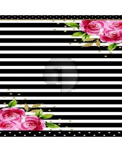 Stripe Flower Spot Computer Printed Photography Backdrop DTU-383