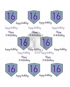 Happy 16Th Birthday Banner Computer Printed Photography Backdrop HXB-001