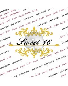 Sweet Happy Birthday Banner Computer Printed Photography Backdrop HXB-005