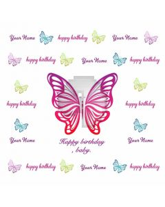 Happy Birthday Baby Banner Computer Printed Photography Backdrop HXB-009