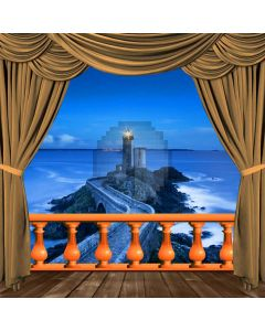 Curtain Sea Building Tidewater Computer Printed Photography Backdrop HXB-101
