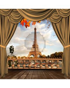 Curtain Tower Tree Computer Printed Photography Backdrop HXB-103