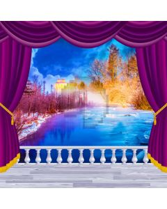 Curtain Sea Night Plant Light Computer Printed Photography Backdrop HXB-123