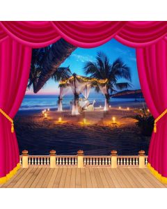 Curtain Sea Plant Sky Light Computer Printed Photography Backdrop HXB-212