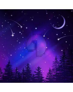 Night Moon Star Tree Computer Printed Photography Backdrop HXB-217