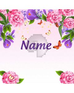 Flower Grass Custom Name Computer Printed Photography Backdrop HXB-235