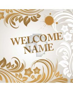 Flower Figure Welcome Gold Computer Printed Photography Backdrop HXB-243