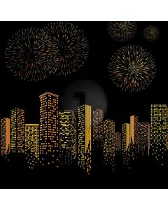 Building Light Night Sky Computer Printed Photography Backdrop HXB-743