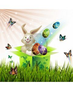 Rabbit Grass Butterfly Computer Printed Photography Backdrop HXB-871