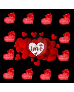 Heart Love Computer Printed Photography Backdrop HXB-877