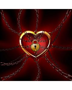 Heart Red Computer Printed Photography Backdrop HXB-881