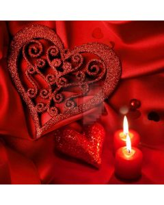Heart Flower Candle Computer Printed Photography Backdrop HXB-883