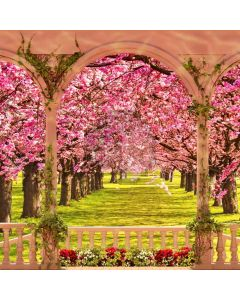 Flower Arch Fence Computer Printed Photography Backdrop HXB-923