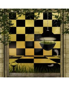 Two color grid window Computer Printed Photography Backdrop HY-C-2001