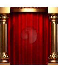 Stage pillars and curtain Computer Printed Photography Backdrop HY-C-2398SS