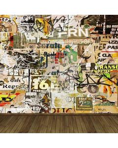 Doodle Painted Wall Computer Printed Photography Backdrop HY-CM-3362