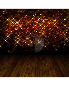 Sparkles Above The Wooden Floor Computer Printed Photography Backdrop HY-CM-3367