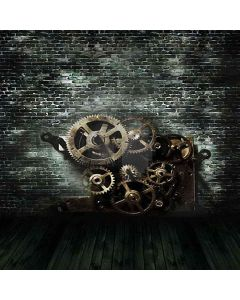 Gear Wheels Computer Printed Photography Backdrop HY-CM-3368