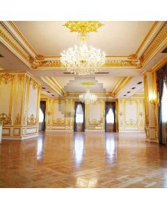 Fancy Hall With Chandelier Computer Printed Photography Backdrop HY-CM-3477