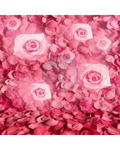 Pink Flowers Computer Printed Photography Backdrop HY-CM-3480