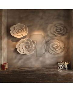 Flowers On Wall Computer Printed Photography Backdrop HY-CM-3536