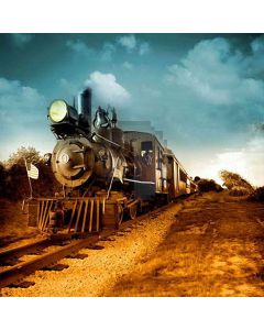 Old Train Computer Printed Photography Backdrop HY-CM-4208