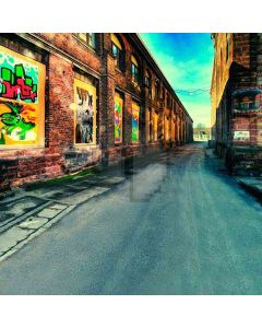 Doodle Painted Street Walls Computer Printed Photography Backdrop HY-CM-4235