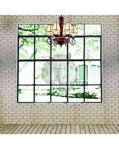 French Window With White Brick Wall Computer Printed Photography Backdrop HY-CM-4518