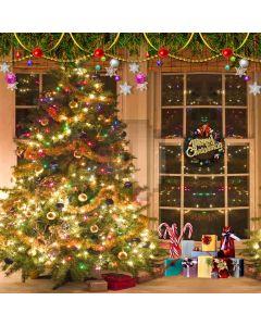 Christmas Ribbon Computer Printed Photography Backdrop L-816