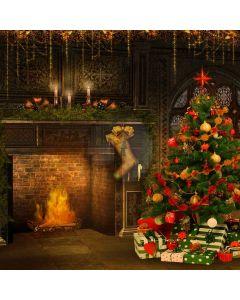 Nice Christmas Tree Computer Printed Photography Backdrop L-819