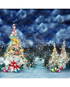 Shiny Christmas Tree Computer Printed Photography Backdrop L-827