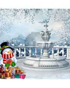Snowman With Presents Computer Printed Photography Backdrop LMG-048