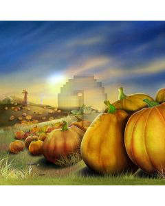 Mature Pumpkins Computer Printed Photography Backdrop LMG-067