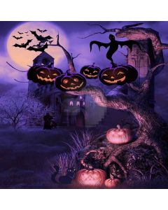 Haunted Castle Computer Printed Photography Backdrop LMG-071