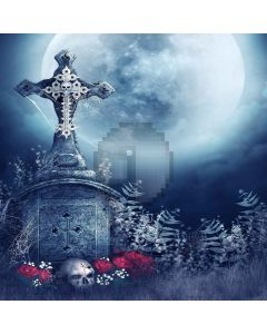 Cross With Moon Computer Printed Photography Backdrop LMG-075