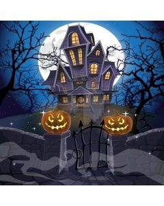 Scary House Computer Printed Photography Backdrop LMG-090