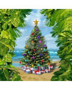 Seaside Christmas Tree Computer Printed Photography Backdrop LMG-113