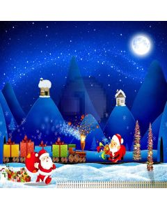 Christmas Night Computer Printed Photography Backdrop LMG-141