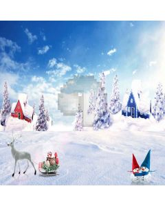 Snowy Christmas Computer Printed Photography Backdrop LMG-142