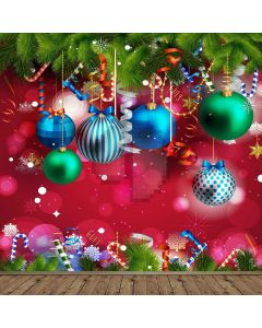 Christmas Balls Computer Printed Photography Backdrop LMG-144