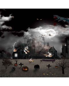 Scary Castle Computer Printed Photography Backdrop LMG-152