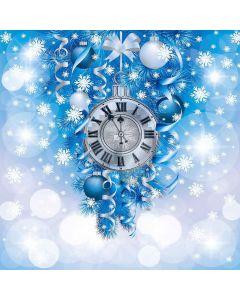 Christmas Clock Computer Printed Photography Backdrop LMG-157