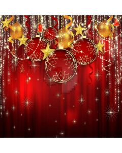 Shiny Christmas Balls Computer Printed Photography Backdrop LMG-163