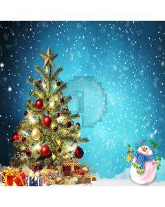 Decorated Christmas Tree Computer Printed Photography Backdrop LMG-187