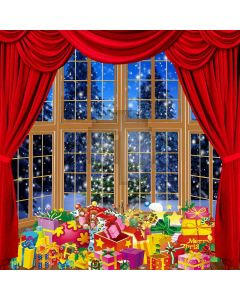 Colorful Christmas Presents  Computer Printed Photography Backdrop LMG-189