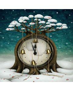 Tree Clock Computer Printed Photography Backdrop LMG-190