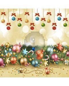 Colorful Christmas Balls Computer Printed Photography Backdrop LMG-196