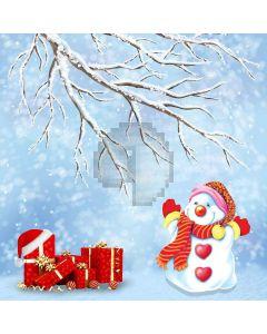 Cute Snowman Computer Printed Photography Backdrop LMG-210