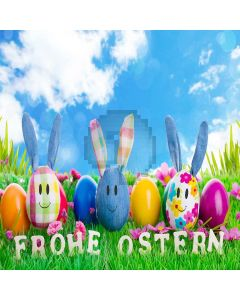 Cute Easter Egg Computer Printed Photography Backdrop LMG-279
